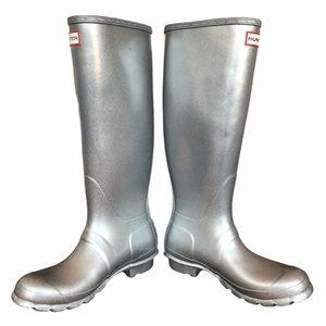 NWOB HUNTER Original Tall Cosmic Glitter Rain Boot
